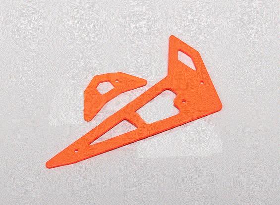 Neon Orange Fiberglass Horizontal/Vertical Fins Trex 250