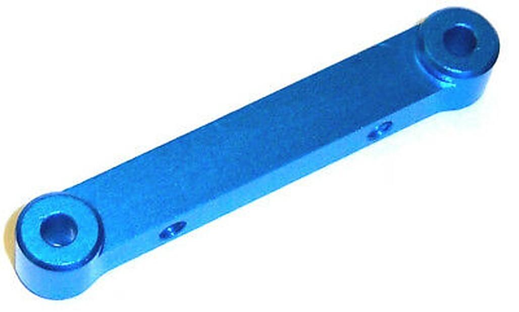 02143b 122034 1/10 Alloy Rear Pin End Plate x 1 Blue