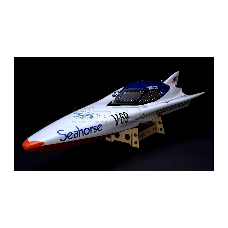 New Exceed SeaHorse Electric Powered FiberGlass 920EP RACING Boat ARTR 860mm 50A ESC