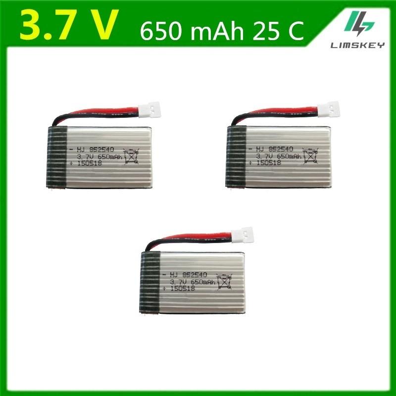 3 X Bateria 3.7v 650mah Para Syma X5