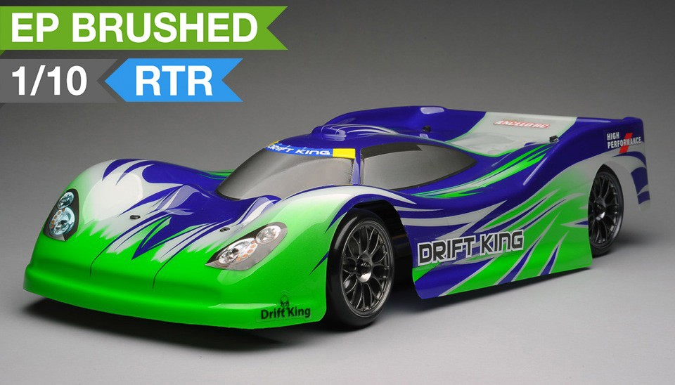 Carro a Control Remoto Exceed RC 2.4Ghz MadSpeed Drift King 1/10 Electric Ready to Run Le Mans Drift Car(Green)