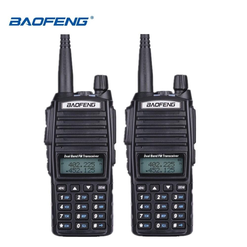 2X BaoFeng Pofung UV-82 UV82 Dual Band Two-Way Radio 136-174MHz VHF & 400-520MHz UHF (Black) FACT.