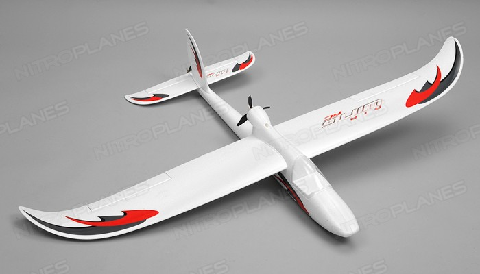 Avion RC Airwing RC WingSurfer Airplane Glider 4 Channel 2.4ghz Ready to Fly RC 1400mm Wingspan (AA Red)