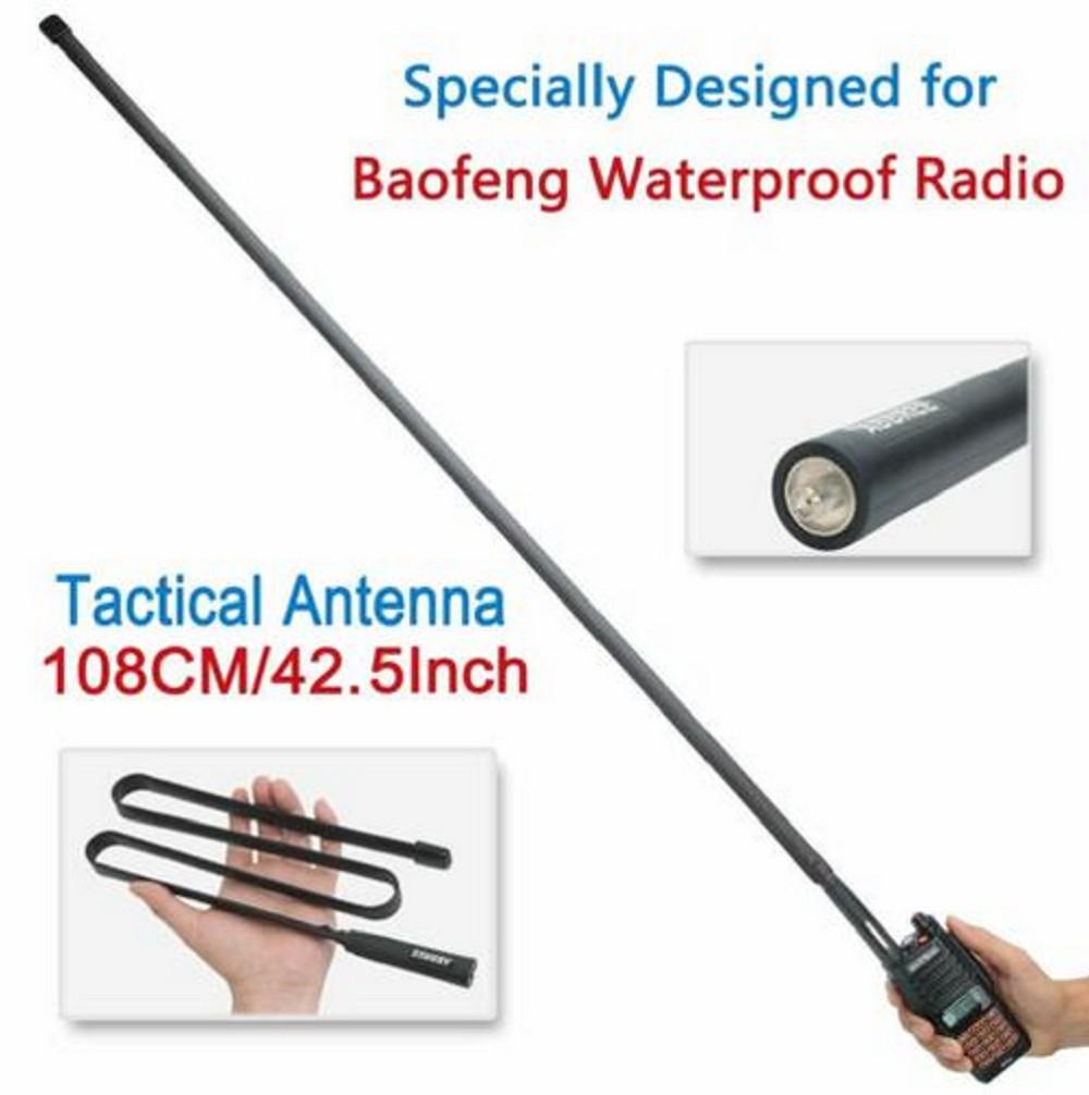 "42.5 ABBREE SMA-Female Tactical Antenna For Baofeng UV-XR UV-9R"""