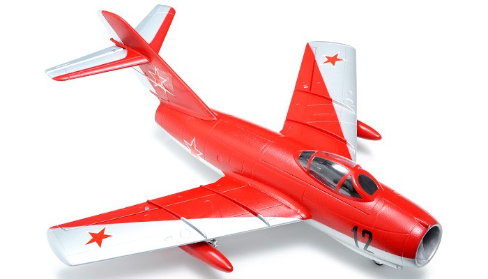 Avion RC Exceed RC 2.4Ghz Mig-15 70MM Electric Ducted Fan Remote Control RTF Ready to Fly w/ Fix Landing Gear (Red)